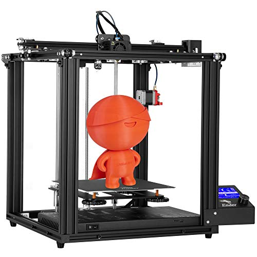 Official Creality Ender 5 Pro 3D Printer with Silent Mother Board Upgraded Metal Feeder Extruder and Capricorn Bowden PTFE Tubing 220x220x300mm Build Volume