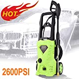 Homdox Electric Pressure Washer, Power Washer with 2600 PSI,1.6GPM, (4) Nozzle Adapter, Longer Cables and Hoses and Detergent Tank,for Cleaning Cars, Houses Driveways, Patios,and More