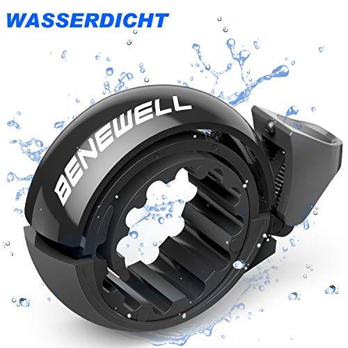 Benewell Fahrradklingel Laute, Fahrradglocke Radfahren, O Design Schwarz Fahrradklingel für Bike, Fahrradhupe Klingel für 22.2-31.8mm Lenker