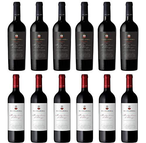 vino rosso 6x0,75 l Montepulciano d'Abruzzo Riserva D.O.C.G. 2014 + 6x0,75 l Montepulciano d'Abruzzo D.O.C. 2017 - cantine Mazzarosa - colline Teramane Abruzzo Italy