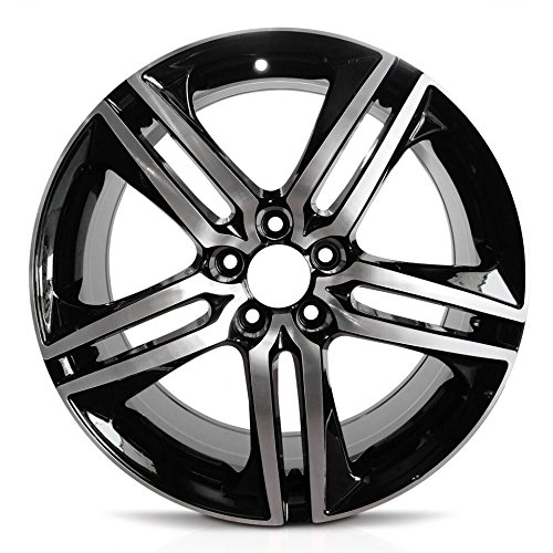 Road Ready Car Wheel For 2016-2017 Honda Accord 19 Inch 5 Lug Black Machine Face (Diamond Cut) Aluminum Rim Fits R19 Tire - Exact OEM Replacement - Full-Size Spare