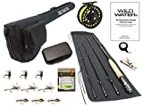 Wild Water Fly Fishing 9 Foot, 4-Piece, 5/6 Weight Fly Rod Complete Fly Fishing Rod and Reel Combo...
