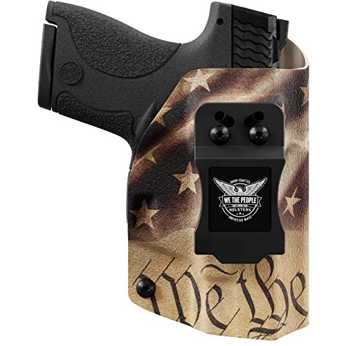 We The People - Constitution Right Hand Inside Waistband Concealed Carry Kydex IWB Holster Compatible with Smith & Wesson M&P Shield / M2.0 9mm/.40 Gun