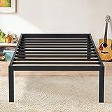 Olee Sleep 16 Inch Dura Metal Steel Slate Bed Frame, Twin XL, Black