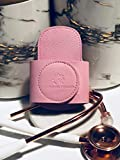 SECURE-A-SCOPE 2.0 (Blush/Rose Gold) - Universal Genuine Saffiano Leather Stethoscope Holder for All Models:...