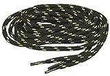 GREATLACES Black w/Yellow Natural Kevlar proTOUGH(tm) Reinforced Heavy Duty Boot Laces Shoelaces (2 Pair Pack) (72 Inch 183 cm)