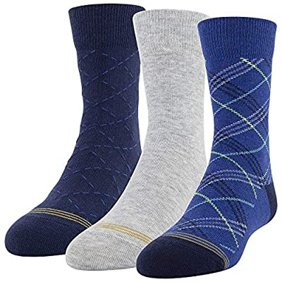 Fits shoe sizes 3 to 9 Soft, comfortable and durable Ez match toe rings for size identification and easy pairing Spandex for a perfect fit Crew silhouette hits mid-calf; 3 pair pack