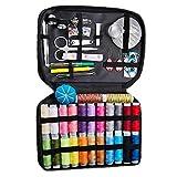 tJexePYK Mini Kit de Costura Herramientas con la Caja, 98pcs Qulity Costura Accessorios, Hilos, Needdle para Principiante, de viajeros