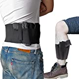 CREATRILL Bundle of Belly Band + Ankle Holster, Concealed Carry with Magazine Pocket/Pouch for Women Men Fits Glock, Ruger LCP, M&P Shield, Sig Sauer, Ruger, Kahr, Beretta, 1911, etc