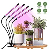 Lampara para Plantas, HOMPO 80 LEDs 40W Lampara Plantas Interior Lampara Colgante Planta con Temporizador Automtico 3H/9H/12H para Siembra, Crecimiento, Floracin y Fructificacin