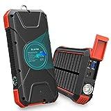 BLAVOR Solar Power Bank 10000 mAh Caricabatteria Solare Portatile LED Impermeabile Antiurto per Il Cellulare iPad Tablets e più (Arancio)