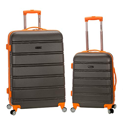 Product Image 1: Rockland Melbourne Hardside Expandable Spinner Wheel Luggage, Charcoal, 2-Piece Set (20/28)