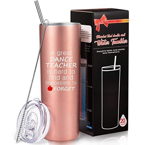 Dance Teacher Appreciation Gift for Women, Vacuum Travel Mug...