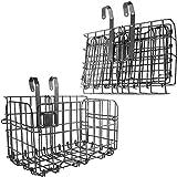 Rear Bike Basket Folding Front Bike Basket Rust Proof Wire Mesh Bicycle Basket Mountain Bike Frame Basket Fold-Up Bike Cargo Rack
