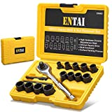 ENTAI Damaged Stripped Bolt & Nut Extractor Set, 16 Pieces Bolt Remover Tool Set with Solid Storage Case, Perfect for Removing Damaged, Rounded Bolts Nuts and screws