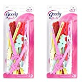 Goody - Girls Sassy Self Hinge Hair Barrettes (52 Count - Assorted Colors)