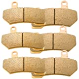 Foreverun Motor Front and Rear Sintered Brake Pads for Harley Davidson FLHTCU Ultra Glide Classic Electra Glide 2008-2017