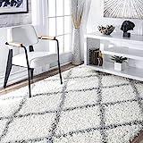 nuLOOM Trellis Cozy Soft & Plush Shag Rug, 5' 3' x 7' 6', White