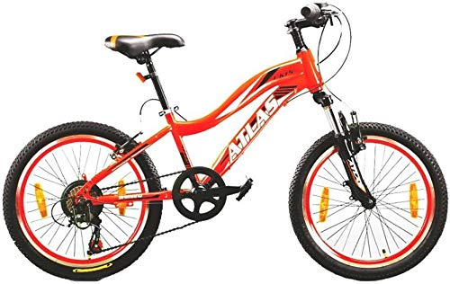 Atlas UK15 6 Speed 13 Inches Frame Bicycle for Kids of Age 5-8 Yrs (Red, 20 Inches)