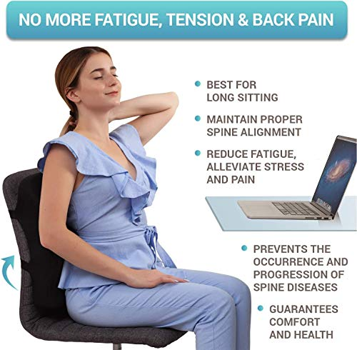 Product Image 4: Back Support for Office Chair - Memory Foam Lumbar Pillow - Perfect Cushion for Car, Computer and Desk Seat