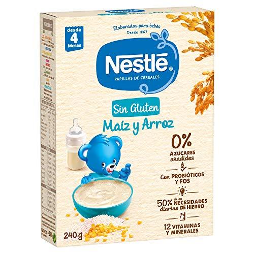 Papillas de cereales NESTLE Sin Gluten Maiz Arroz 240g - Paq