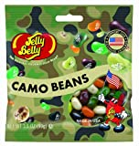 Jelly Belly Camo Beans 3.5 Oz Bag (Pack of 12)
