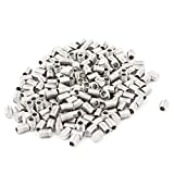 uxcell M3x4mm Metric 304 Stainless Steel Hex Socket Set Flat Point Grub Screws Silver Tone Towel Rack Door Knob 200pcs