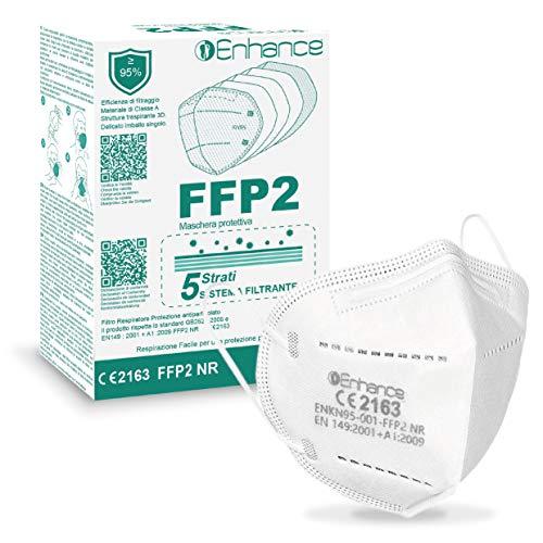 VENEZIANO Mascherine FFP2 10 PZ con Marchio CE protettive, Maschera di Protezione antiparticolato FFP2 (10 PZ mascherine FFP2 )