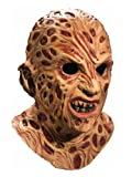 A Nightmare On Elm Street Super Deluxe Overhead Freddy Krueger Mask, Red, One Size