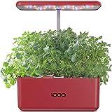 iDoo Sistema de Cultivo Hidropnico, Kit de Inicio de Jardn de Hierbas para Interiores con luz de Crecimiento LED, Maceta de Jardn Inteligente para Cocina casera, Altura Ajustable (7 vainas)