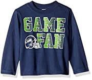 Includes one officially licensed Seattle Seahawks long sleeve Tee shirt Polyester Interlock Seahawks logo with screen print Brand name: NFL