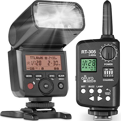 Altura Photo AP-305N Camera Flash Light with Manual Trigger for Nikon D3500 D3400 D3300 D5600 D5500 D5300 D850 D780 D750 D7500 D7200 Z6 Z7 Z50-2.4GHz I-TTL Speedlight for Mirrorless and DSLR Camera