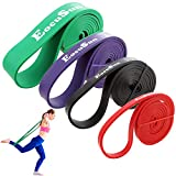 Pull Up Bands, Stretch Resistance Bands, Mobility Exercise Bands, Assisted Pull Up Straps Powerlifting Band for Home Fitness, Stretching and Resistance Training, Physical Therapy, Pilates Yoga (Set)