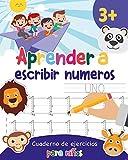 Aprender a escribir números: Aprender a escribir los numeros para niños - Libro infantiles para la escuela primaria - Juego educativo matemàticas - Cuentos infantiles