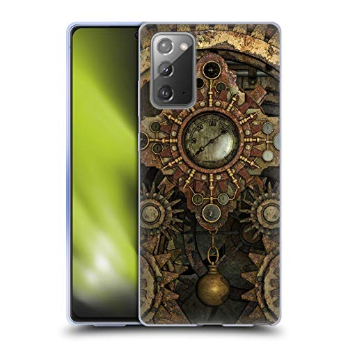 Head Case Designs Officially Licensed Simone Gatterwe Rusty Vintage Gears Steampunk Soft Gel Case Compatible With Samsung Galaxy Note20 / 5G (Electronics)