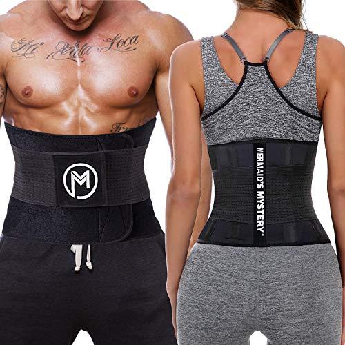 MERMAID'S MYSTERY Waist Trimmer Trainer Belt for Women Men Weight Loss Premium Neoprene Sport Sweat Workout Slimming Body Shaper Sauna Exercise 6