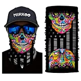 MIRKOO 3D Breathable Seamless Tube Face Mask, Dust-proof Windproof UV Protection Motorcycle Bicycle ATV Face Mask for Cycling Hiking Camping Climbing Fishing Hunting Motorcycling (MK-988)