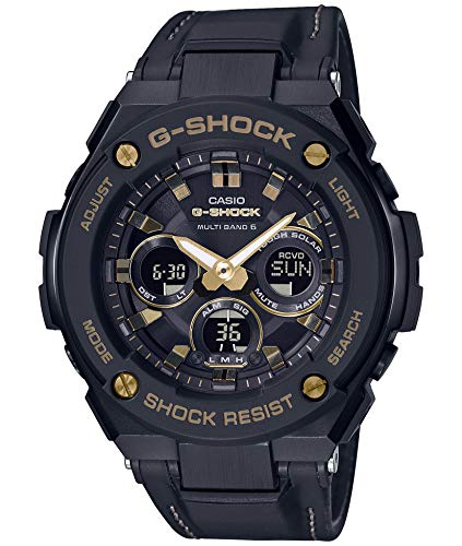 Casio] Watch G Shock G-Steel Solar Radio GST-W300GL-1AJF Men's Black
