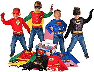Officially licensed DC Comics 21-piece dress up trunk costume set, look for authentic trademark on package and label; all Imagine products are tested to meet or exceed all U. S. Safety regulations Exclusive 21-piece DC Comics dress-up trunk with Supe...