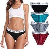 moonlight elves Womens Underwear Cotton Bikini Panties Breathable Hipster Panty Pack 4 (65, L)