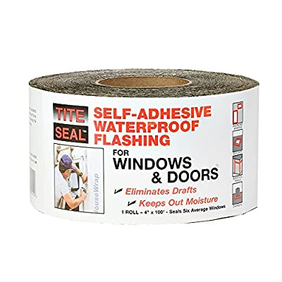 Self-adhesive waterproof flashing tape Eliminates air and moisture leaks around windows and doors Self-seals around fasteners and screws Helps prevent the formation of mold and mildew Made in the USA
