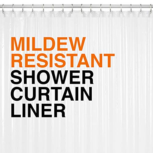 PEVA Shower Curtain Liner 72'x72' Clear 10G Thickness, No Chemical...
