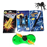 Leeche Shocking Kit,Prank Stuff Kit,Shocking Gum Packs ,Shocking Pen ,Prank Toys,Finger Trap Practical Joke Trick Toy Gift (5 Pack)