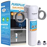 PUREPLUS Under Sink Water Filter System, NSF Certified 20K Gallons High Capacity Direct Connect Hydroviv Under Counter Kitchen Drinking Water Filtration, Removes 99.99% Chlorine, Bad Taste and Odor