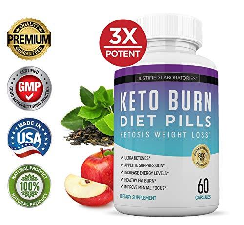 Keto Diet Pills Burn Shred BHB Salts Advanced Ketogenic Supplement Exogenous Ketones Ketosis Weight Loss Fat Burner Boost Energy Metabolism Men Women 60 Capsules (5 Bottles) 2