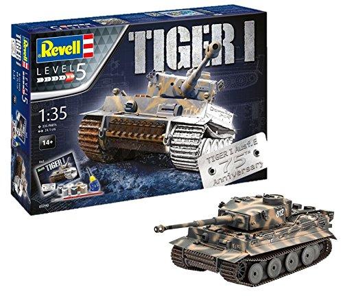 Revell Panzermodellbausatz Tiger I im Maßstab 1:35, 24,1cm 05790, unlackiert