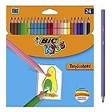 BIC Kids Ecriture Tropicolors Crayons de Couleur - Couleurs Assorties,...