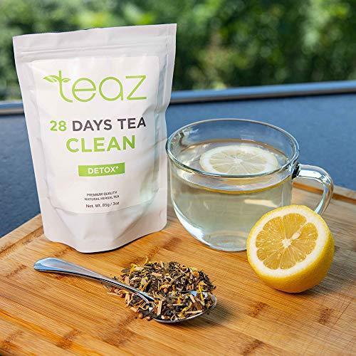 Teaz 28 Days Detox - Clean Tea | 85g Loose Leaf | Slim Tea for Weight Loss | Detox Tea | Diet & Fat Loss Tea | Cleanse Tea | Natural Dietary Supplement | For More Successful Diet (Detox Tea) 7