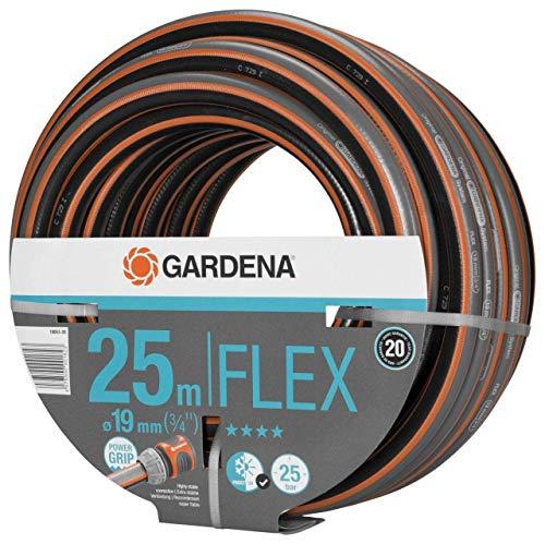 """GARDENA Comfort FLEX Schlauch 19 mm (3/4\""""), 25 m: Formstabiler, flexibler Gartenschlauch mit Power-Grip-Profil, aus hochwertigem Spiralgewebe, 25 bar Berstdruck, ohne Systemteile (18053-20)"""