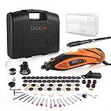 TACKLIFE Mini Amoladora Eléctrica Advanced Professional Kit de Herramientas Rotatorias Multifunción con 80 Accesorios y 4 Archivos Adjuntos, Velocidad Variable para DIY, Artesanías